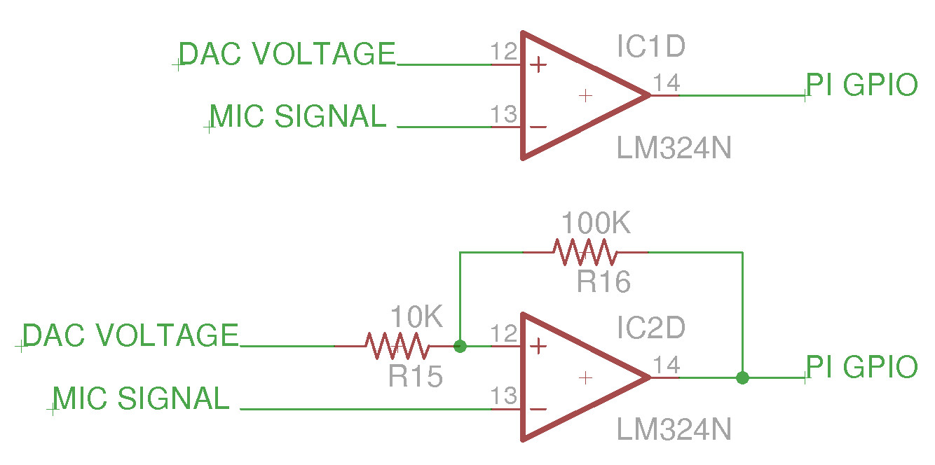 Pi Time Simple Mic Circuit A Resistor Network Could Be Used To Provide Little Hysteresis As Shown In Figure 28 But Space Was Limited Went For The Basic