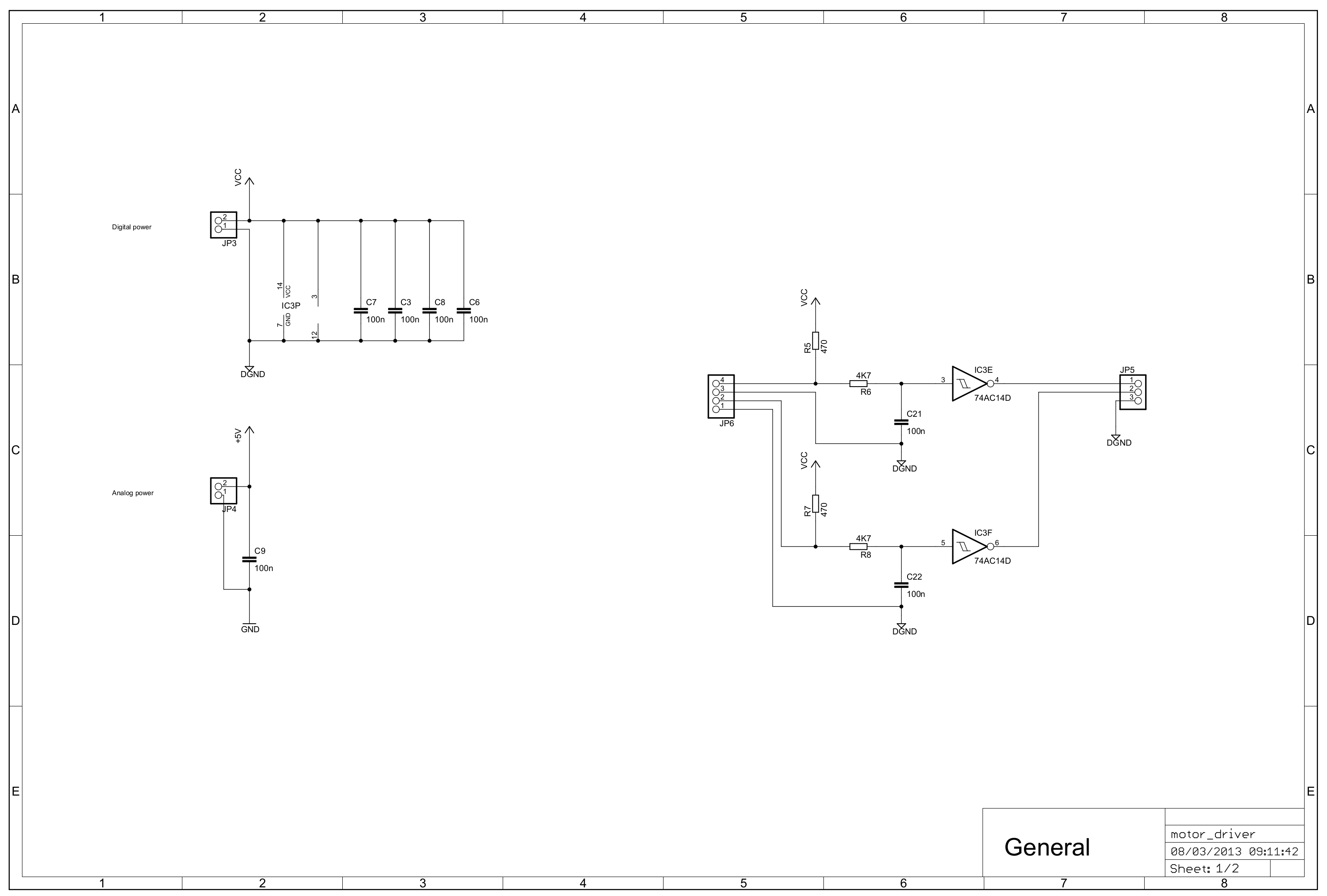 Cockroach V2 Figure 2 H Bridge Circuit Developed For Dacs This Gives Two Drivers And Some Input Buffering Filtering The Diagram Pcb Are Shown In Figures 11 12